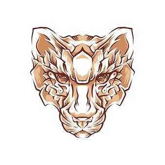 Ilustração de cabeça de tigre