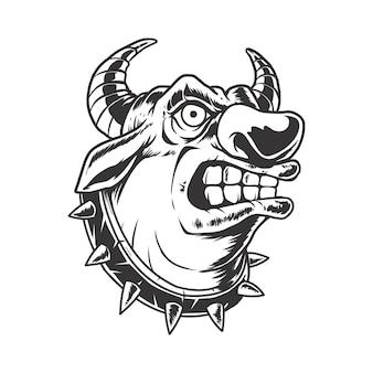 Ilustração de cabeça de touro