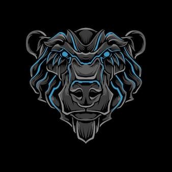 Ilustração de cabeça de urso