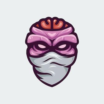 Ilustração de cabeça de zumbi