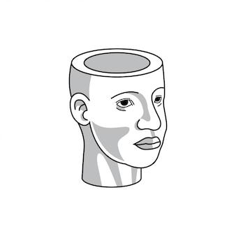 Ilustração de cabeça humana