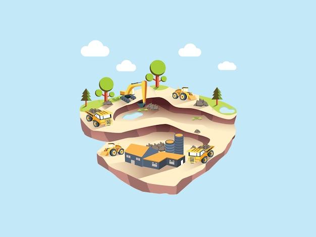 Ilustração de cabeçalho de mineração