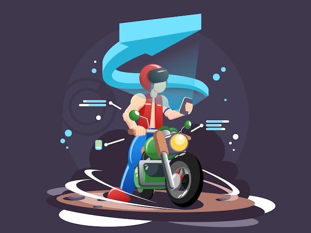 Ilustração de cabeçalho web motociclistas