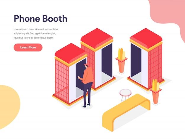 Ilustração de cabine telefônica