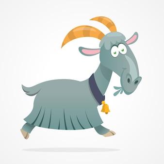Ilustração de cabra dos desenhos animados