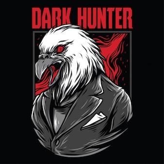 Ilustração de caçador escuro