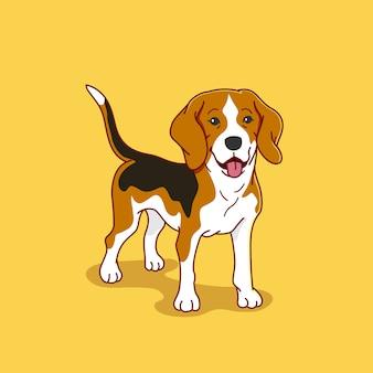 Ilustração de cachorro beagle