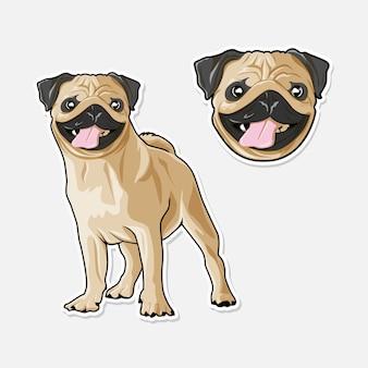 Ilustração de cachorro fofo