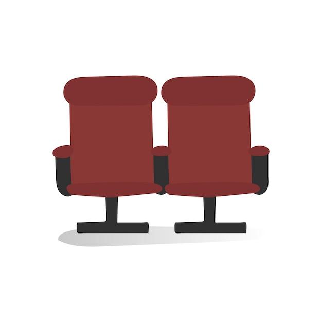 Ilustração, de, cadeiras