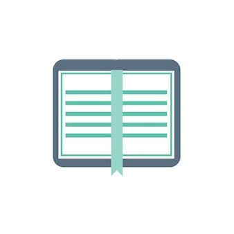 Ilustração, de, caderno, ícone