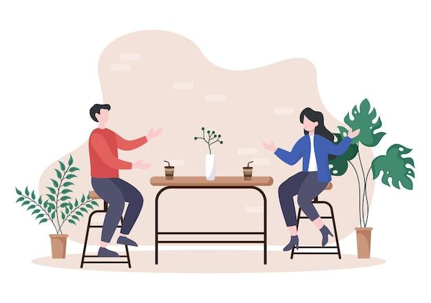 Ilustração de café ou cafeteria