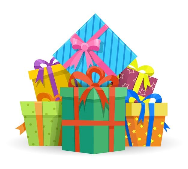 Ilustração de caixas de presentes ou presentes