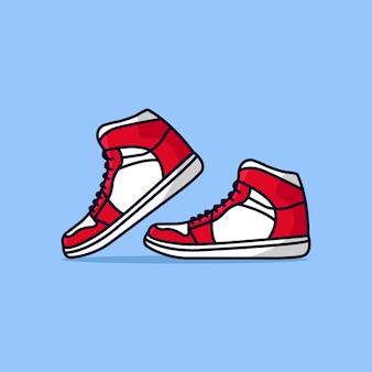 Ilustração de calçados esportivos