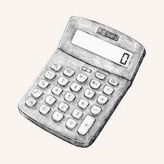 Ilustração de calculadora digital desenhados à mão