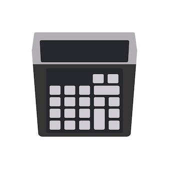 Ilustração, de, calculadora, máquina