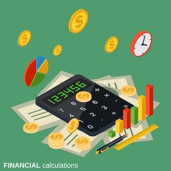 Ilustração de cálculos financeiros