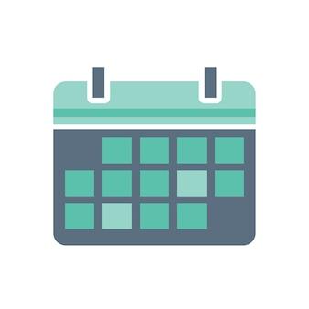 Ilustração, de, calendário, ícone