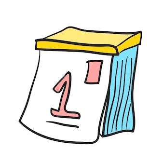 Ilustração, de, calendário, vetorial, ícone