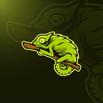 Ilustração de camaleão