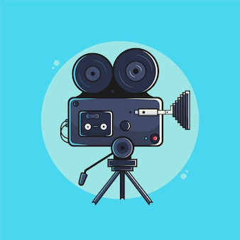 Ilustração de câmera de cinema.