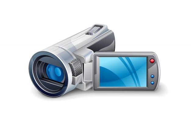 Ilustração de câmera de vídeo