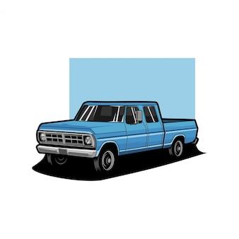 Ilustração de caminhão clássico