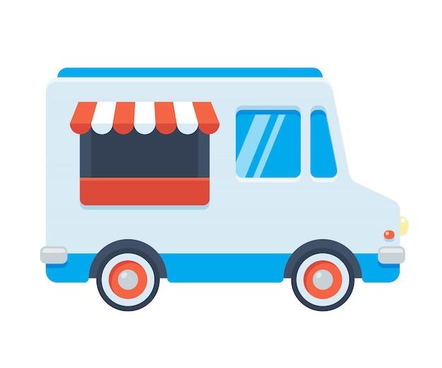 Ilustração de caminhão de comida