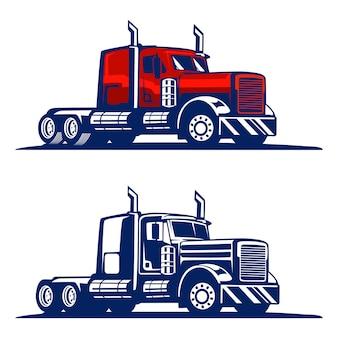 Ilustração de caminhão pesado