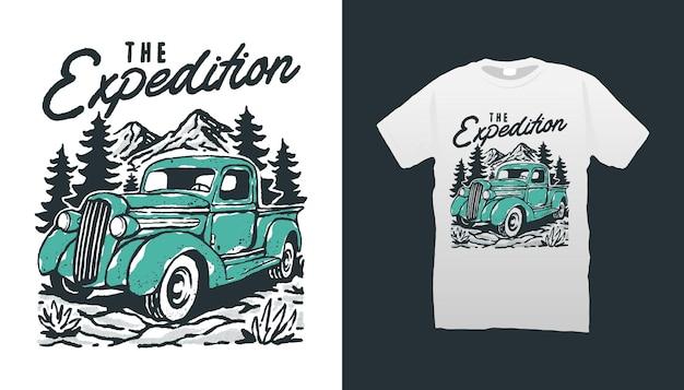 Ilustração de caminhão vintage