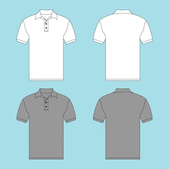Ilustração de camisa de botão t