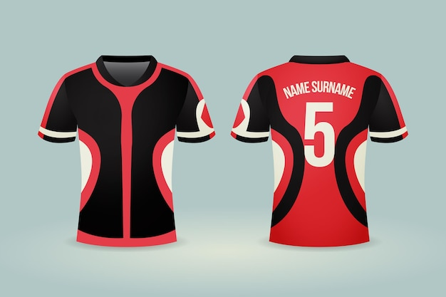 Ilustração de camisa de futebol
