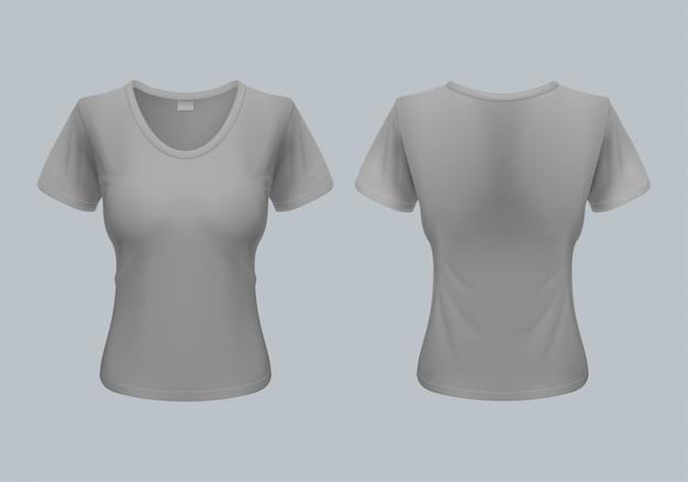 Ilustração de camiseta feminina