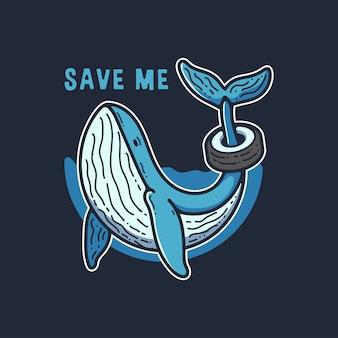 Ilustração de campanha de baleia