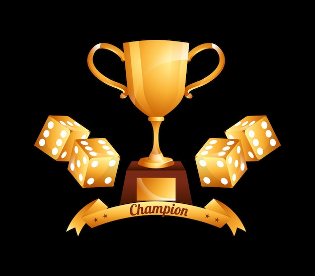 Ilustração de campeão de cassino