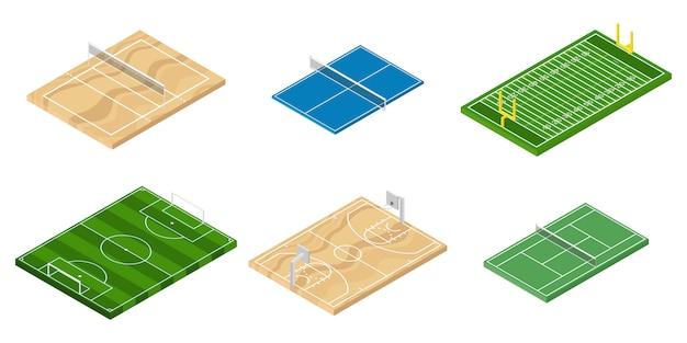 Ilustração de campos de esporte
