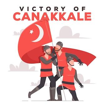 Ilustração de canakkale desenhada à mão