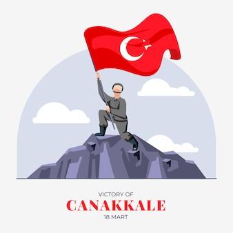Ilustração de canakkale plana