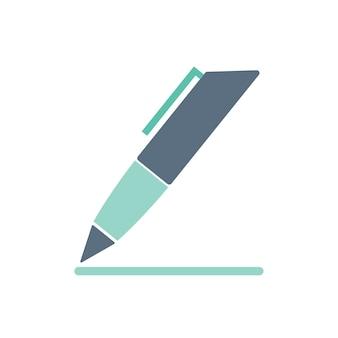 Ilustração, de, caneta, ícone