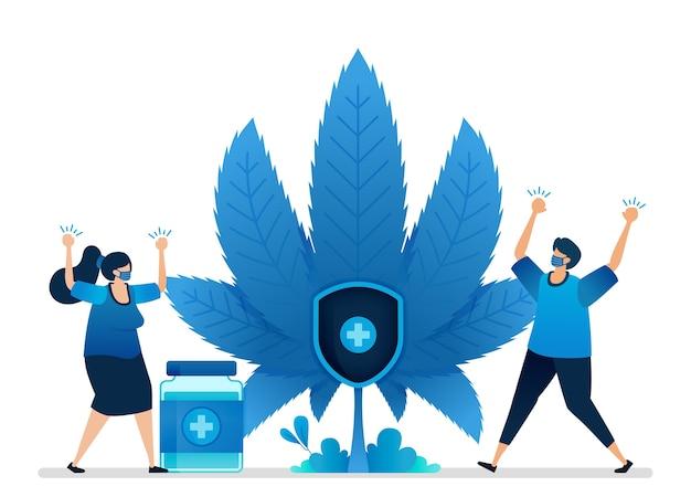 Ilustração de cannabis.