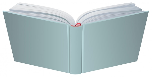 Ilustração de capa dura de livro aberto
