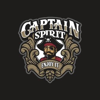Ilustração de capitão de piratas de cabeça