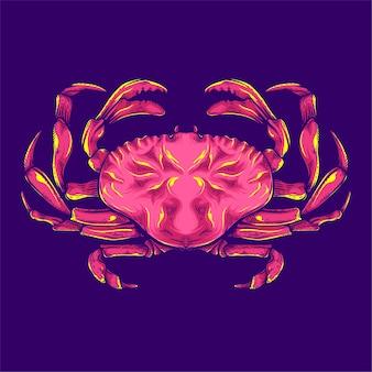 Ilustração de caranguejo vermelho