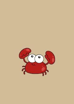 Ilustração de caranguejo