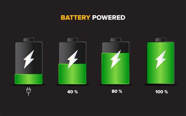 Ilustração de carga do acumulador de bateria