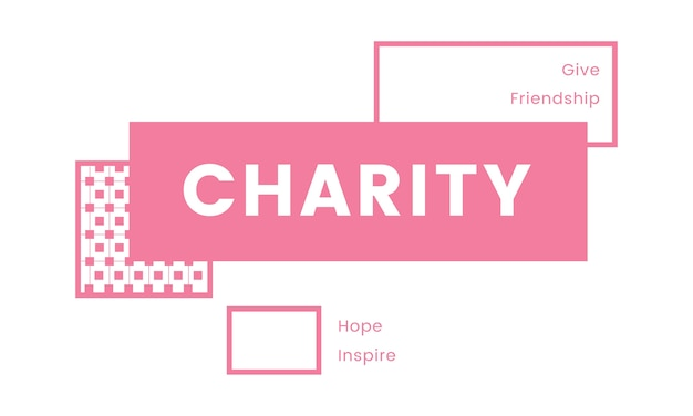 Ilustração, de, caridade, apoio