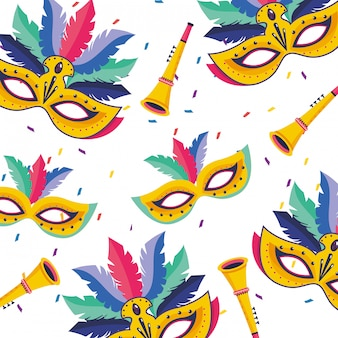Ilustração de carnaval do brasil