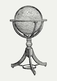 Ilustração de carrinho globo vintage