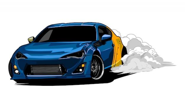 Ilustração de carro à deriva