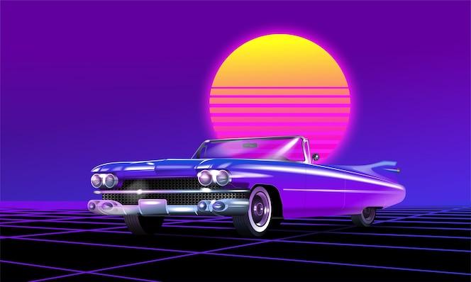 ilustração de carro antigo