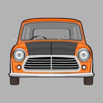 Ilustração de carro clássico retrô